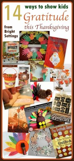 Teach your children about gratitude this Thanksgiving with these 14 quick and easy crafts. #Thanksgiving #gratitude #kidcrafts