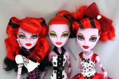 Monster High hairdos // Such a pretty face... by Nataloons, via Flickr