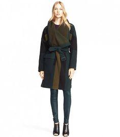 Burberry Brit Cherbrooke Wool Blend Blanket Wrap