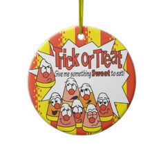 Halloween Candycorn Ornament.   Look for more  items in my store. Designs by DonnaSiggy. All graphic designs are copyrighted on my products.