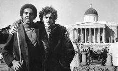 Gilberto Gil and Caetano Veloso in political exile, Trafalgar Square, 1969