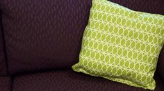 No-Sew Pillow Cover: If you don't have time to pull out a needle and thread, reach instead for an iron and heat bonding tape for this No-Sew Pillow Cover. Use a bright pattern to easily dress up a neutral room, or try out weather-resistant fabrics to liven up your porch.