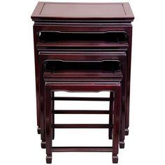 Rosewood Nesting Tables - Rosewood - OrientalFurniture.com  $329