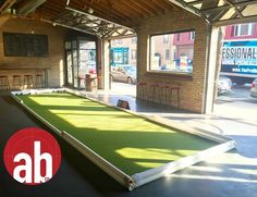 Home Made Bocce Court | They have two indoor bocce ball courts ...