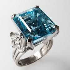 aquamarine cocktail rings - Google Search