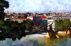 Budapest - watercolor