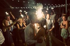 Your Event by Erin, Rancho Valencia, Photo by Justin Lee, Last Dance under the market lights with Sparklers!