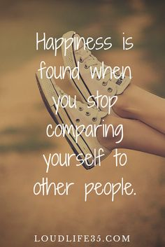 STOP comparing yourself...