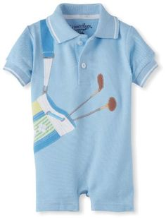 #baby #golf For Dad @Ean MasonAmazon.com: Kitestrings Baby-Boys Newborn Pique Golf Romper: Clothing
