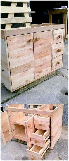 Read more about DIY Pallet Projects Pallet Bed Frames, Pallet Wall Shelves, Diy Pallet Sofa, Pallet Furniture, Recycled Pallets, Wooden Pallets, Wooden Diy, Pallet Dining Table, Diy Outdoor Table