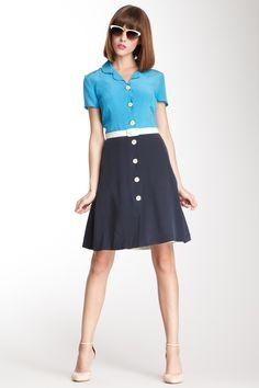 Orla Kiely Silk Crepe Shirt Dress