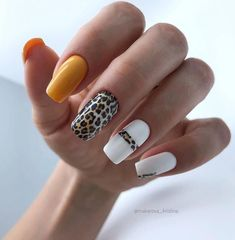 45 Pretty Diy Nail Designs Ideas You Must Try These trendy Nail Designs ideas would gain you amazing compliments. Check out our gallery for more ideas these are trendy this year. Cheetah Nail Designs, Cheetah Nails, Diy Nail Designs, Acrylic Nail Designs, Popular Nail Designs, Stylish Nails, Trendy Nails, Cute Acrylic Nails, Cute Nails