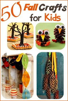 50 Fall Crafts for Kids - The beauty of fall inspires these fun DIY crafts…