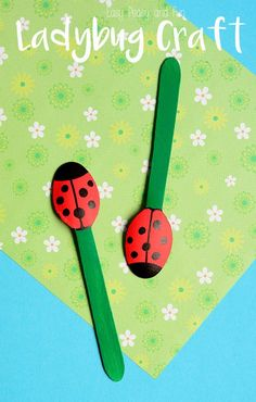 Wooden Spoon Ladybug Puppets - Cute and Easy Ladybug Craft for Kids to Make