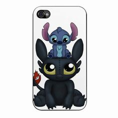 Stitch And Toothless Can I Sit Here iPhone 4/4s Case