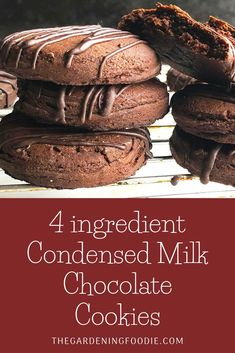 These 4 ingredients Condensed Milk Chocolate Cookies are a quick and easy bake. Made with just 4 basic ingredients to create an amazingly delicious co. Condensed Milk Cookies, Condensed Milk Recipes, Condensed Milk Biscuits, Sweet Condensed Milk, Quick Cookies, Yummy Cookies, Basic Cookies, Easy Cookie Recipes, Sweet Recipes
