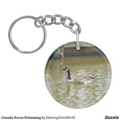 Canada Goose Swimming Keychain