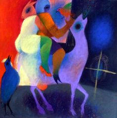 Roberto Chichorro - Pintura - Artodyssey - Roberto Chichorro nasceu em 1941 em Lourenço Marques. Dedicou-se desde cedo à pintura, onde expressa toda a magia das velhas histórias que foi ouvindo, ligadas a mundos mágicos de assombros, terrores e feitiçarias, mas também de bichos, música e encantos. Like Image, Gustav Klimt, Artist Painting, Drawings, Maputo, Paintings, Inspiration, Portugal, Illustrations