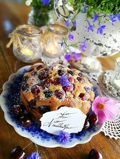 Kirschkuchen 🍒 Muffin, Pudding, Breakfast, Desserts, Food, Cherry Pies, Cherries, Food Food, Backen