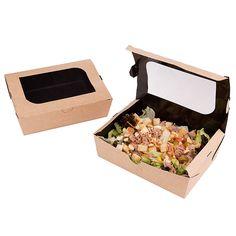 En nuestro catálogo encontrarás gran variedad de envases kraft de comida para llevar. Packaging para ensaladas, pasteles,fritos, pasta o cajas para picnic