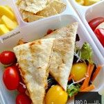 BBQ Quesadilla & Salad for the Office