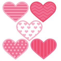 Assorted Hearts SVG cut files flower scal files free scut files free svgs for scrapbooking, miss kate