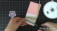 Stampin' Up! Tutorial - Post-It Note Holder - Scraps & Stamps