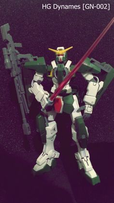 The GN-002 #Gundam #Dynames (aka Gundam Dynames, Dynames), is the long-range specialist Gundam in season one of Mobile Suit Gundam 00, piloted by Lockon Stratos. Dynames would later be redeveloped as GN-002RE Gundam Dynames Repair in A.D. 2314, briefly piloted by the second Lockon Stratos.