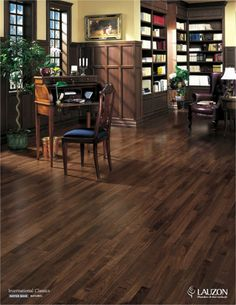 Lauzon Hardwood Flooring available at Oscar's Carpet One. Flooring, Solid Hardwood Floors, Pergo Flooring, Hardwood Floors, Refinishing Hardwood Floors, Modern Tile Designs, House Flooring, Black Walnut Flooring, Wooden Living Room