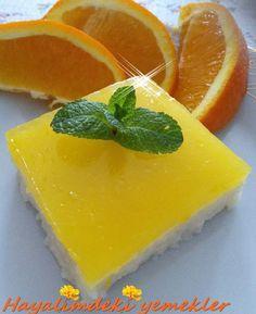 Portakal Pelteli İrmikli Muhallebi Tarifi