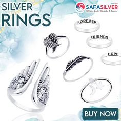 All rings at safasilver.com are made from 925 sterling silver, which has a long-lasting sheen and shine. However, apart from silver, we offer additional finishes such as rose-gold plating, gold-plating, oxidized finish, to name a few. Wholesale Silver Jewelry, Sterling Silver Rings, Jewelry Design, Rose Gold, Gold Plating, Accessories, Sterling Silver Thumb Rings, Jewelry Accessories