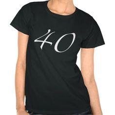 40th Birthday Womens Black T Shirt A Trendy Gift Idea For Girls