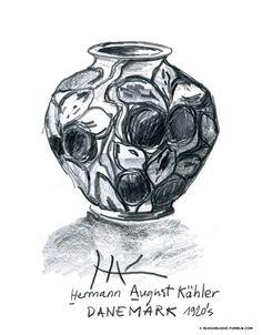 Billet Mai 18, 2015 : Croquis d'un vase de Herman August Kälhler