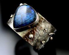 Silver Cuff Bracelet Rustic Jewelry by gailwilliamsjewelry on Etsy, $450.00