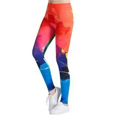 Fashion Legging Graffiti symbol Printed Legging S-4XL elastic Legging