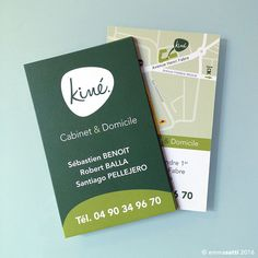 Cabinet Kine A Orange Logo Cartes De Visite