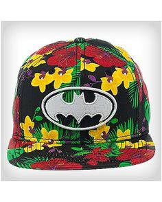 Batman Hibiscus Snapback Hat - Spencer s Custom Tees 3fb69f03c72c