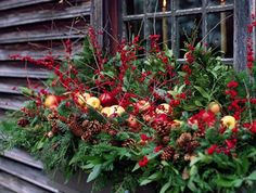 decorate your outdoor window boxes for christmas