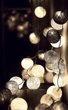 beautiful cotton string lights