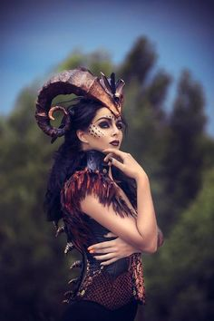 Demon horns headdress horned headband dragon horns succubus accessories burning man costume skull he Horns Costume, Cosplay Horns, Demon Costume, Costume Makeup, Unicorn Costume, Succubus Costume, Succubus Cosplay, Unicorn Crafts, Xploding Unicorn