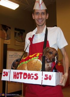Funny and Cool Halloween Costumes 2013- This would be easy since Winnie already has a hotdog costume!