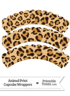 Leopard Print Scalloped Cupcake Wrappers from PrintableTreats.com