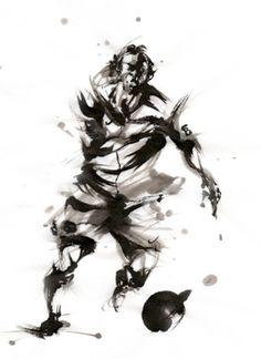 yu-ki nishimoto Samurai, Abstract, Artwork, Animals, Hipster Stuff, Summary, Work Of Art, Animales, Auguste Rodin Artwork