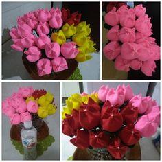 Estas tulipas fiz com muito carinho para o encontro de noivos <3 facil e lindas <3