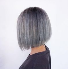 Came in with an already bleached-out lob, just slapped silver over and gave it some life ✨ Maan, this girl from highschool used to have long black hair down to her butt, rockin' the silver bob guuurl   #FUCKBADHAIR #brazilianbondbuilder #b3 #vancouverhair #hotonbeauty #modernsalon #hairstyles