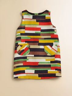 Milly Minis - Toddler's & Little Girl's Cubist Pocket Shift - Saks.com- not available anymore...