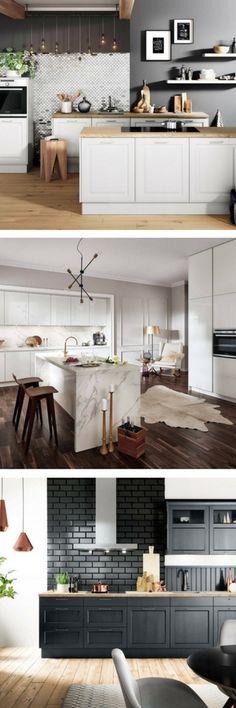 Schwarze Ikea Metod Küche im Skandinavischen Look mit offenen - matt schwarze kchen