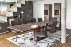 Skovby extended dining table and chairs