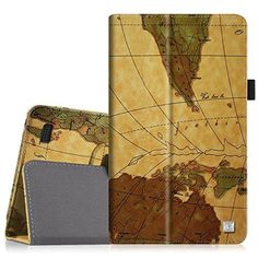 Fintie Folio Case for Fire 7 2015  Slim Fit Premium Vegan Leather Standing Protective Cover Case for Amazon Fire 7 Tablet will only fit Fire 7 Display 5th Generation  2015 release Map Brown <3 View the item in details by clicking the VISIT button