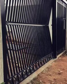 Home Gate Design, House Main Gates Design, Fence Design, Door Design, Iron Main Gate Design, Gate Designs Modern, Modern House Design, Metal Gate Designs, Modern Front Gate Design
